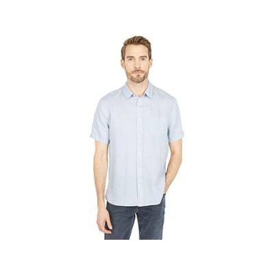 ヴィンス Linen Short Sleeve メンズ シャツ トップス Morning Blue