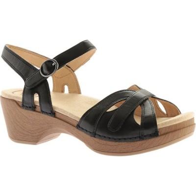 ダンスコ Dansko レディース サンダル・ミュール シューズ・靴 Season Quarter Strap Sandal Black Full Grain Leather