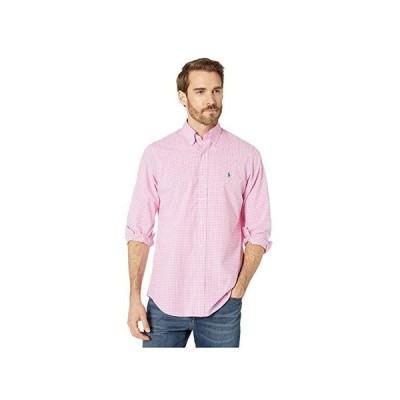 ポロ・ラルフローレン Classic Fit Plaid Poplin Shirt メンズ Shirts & Tops Pink/White