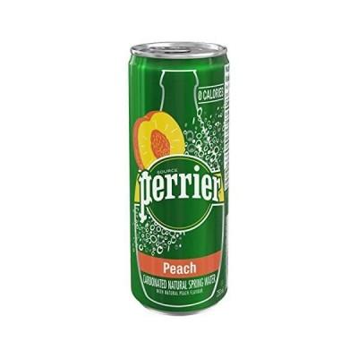 ペリエ (Perrier) ピーチ 炭酸水 缶 250ml 「直輸入品] ×30本