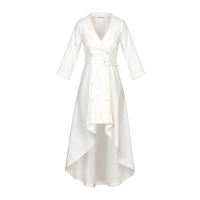 ANGELA MELE MILANO ミニワンピース&ドレス ホワイト 40 コットン 61% / ポリエステル 33% / ポリウレタン 6% ミ