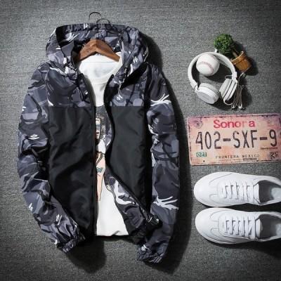 ジャケット ブルゾン 長袖 大人気 迷彩 アウトド コート 新品 フード付き 上着 メンズ 春秋 ナイロンジャケット WL1024151-2