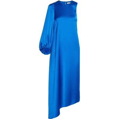 ティビ TIBI 7分丈ワンピース・ドレス ブルー 2 ポリエステル 100% 7分丈ワンピース・ドレス