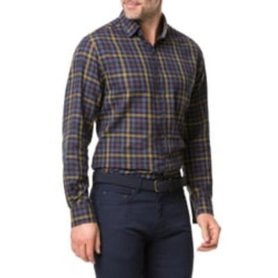 ロッドアンドガン メンズ シャツ トップス Stanaway Regular Fit Check Shirt MUSTARD