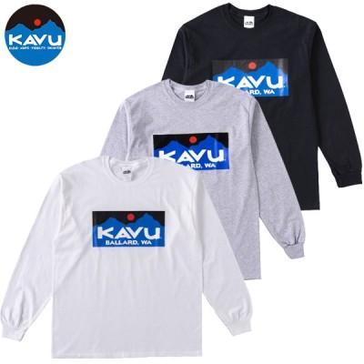 KAVU カブー バラードロゴロングスリーブTシャツ メンズ 19821320   2020SS コットンロンTシャツ