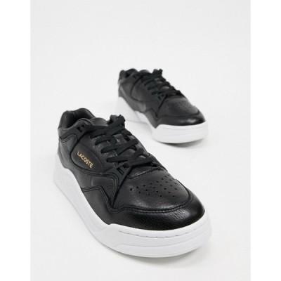 ラコステ Lacoste レディース スニーカー シューズ・靴 Court Slam flatform trainers in black ブラック/ホワイト