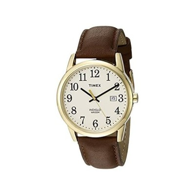 Timex Men's TW2P75800 Easy Reader 38mm Brown/Gold-Tone/Cream Leather Strap