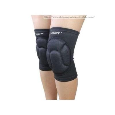 ニーパッド サポーター プロテクター バレーボール スポーツ サッカー 膝 保護 オートバイ 選べる2色