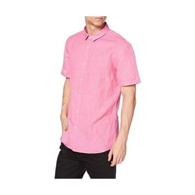 [ヒューゴ] シャツ/ブラウス エクストラスリムフィット リネン&コットン シャツ L ピンク
