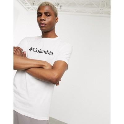 コロンビア メンズ Tシャツ トップス Columbia CSC basic logo t-shirt in white White