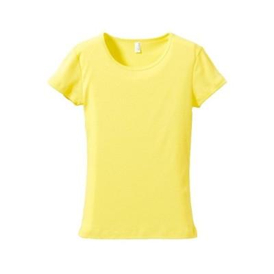 Tシャツ 半袖 ガールズ レディース CVC フライス 6.2oz S サイズ ライトイエロー 無地 ユナイテッドアスレ CAB