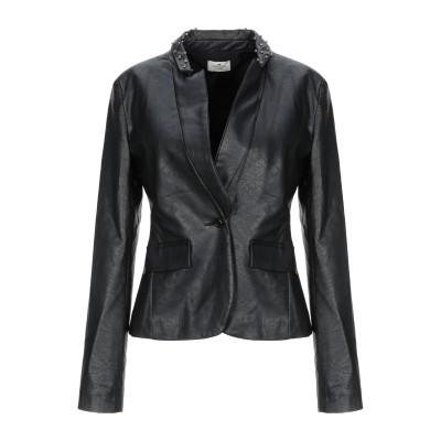 REBEL QUEEN by LIU •JO テーラードジャケット ブラック 40 レーヨン 100% テーラードジャケット
