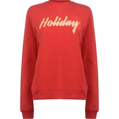 ブレイクセブン Blake Seven レディース スウェット・トレーナー トップス Holiday Sweatshirt Red