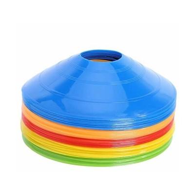 マーカーコーン カラーコーン マーカーディスク サッカー 全5色 各5本 25枚セット 収納袋付き