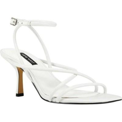 ナインウエスト Nine West レディース サンダル・ミュール シューズ・靴 Nolan Strappy Sandal White Leather