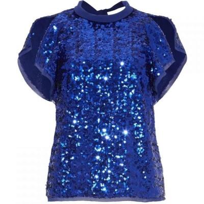 ダンセル Damsel in a Dress レディース ブラウス・シャツ トップス Tally Sequin Blouse Blue