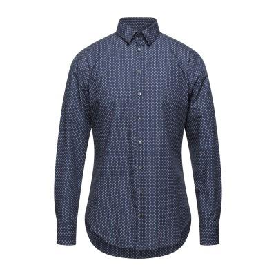 ジョルジオ アルマーニ GIORGIO ARMANI シャツ ダークブルー 37 コットン 100% シャツ