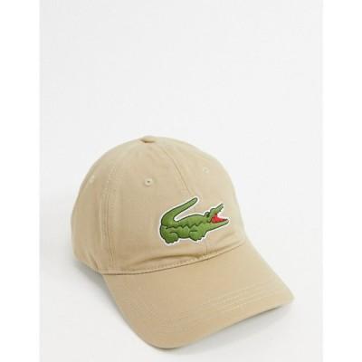 ラコステ Lacoste メンズ キャップ ベースボールキャップ 帽子 large logo baseball cap in tan タン
