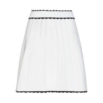 SANDRO ひざ丈スカート ホワイト 0 レーヨン 53% / ナイロン 45% / ポリウレタン 2% ひざ丈スカート