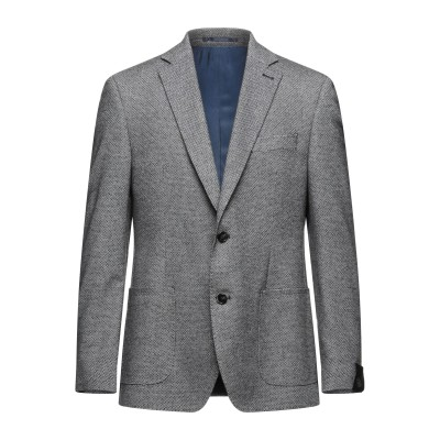 BUGATTI テーラードジャケット スチールグレー 50 コットン 50% / ポリエステル 30% / ウール 20% テーラードジャケット