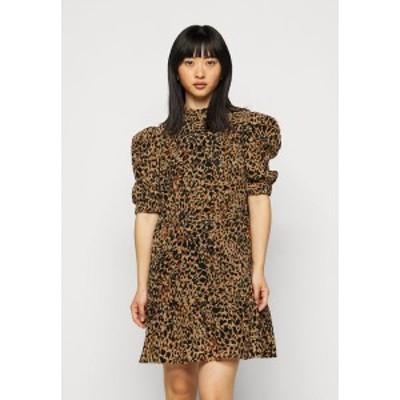 オブジェクト プティ レディース ワンピース トップス OBJELIZA SHORT DRESS - Day dress - honey ginger honey ginger