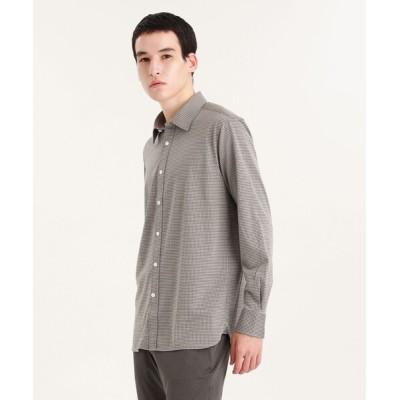 シャツ ブラウス セミワイドカラー ジャージシャツ