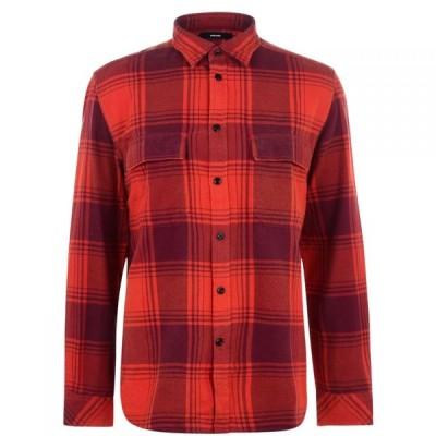 ディーゼル Diesel メンズ シャツ トップス Large Check Shirt Orange M