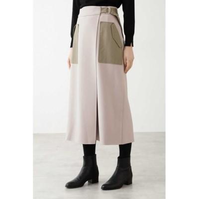 HUMAN WOMAN/ヒューマンウーマン ◆5e・TRリバースカート チャコール1 S
