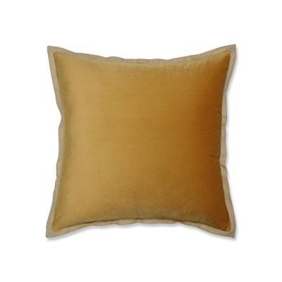 Pillow Perfect B075VB1LXY ベルベットフランジ、マリーゴールドイエロー