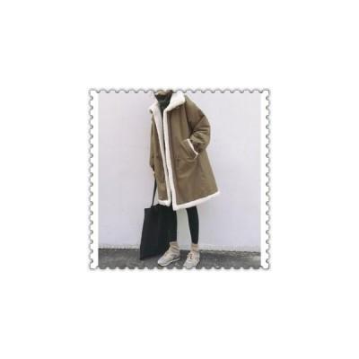 中綿ジャケットレディースオーバーサイズロングコート裏起毛冬着痩せ防寒服秋着厚手暖かい防風オシャレ