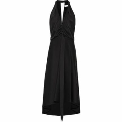 クロエ Chloe レディース ワンピース ミドル丈 ワンピース・ドレス Satin midi dress Black