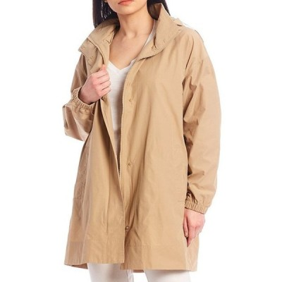 エイリーンフィッシャー レディース パーカー・スウェット アウター Light Cotton Nylon Stand Collar Jacket