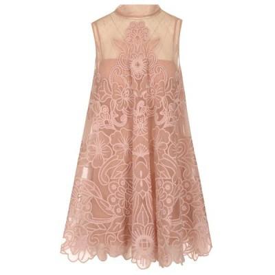 レッドヴァレンティノ レディース ワンピース トップス REDValentino Embroidered Tulle Shift Dress -