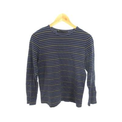 シップス SHIPS Tシャツ 長袖 ボーダー M 黒 ブラック /RK19 レディース【中古】【ベクトル 古着】