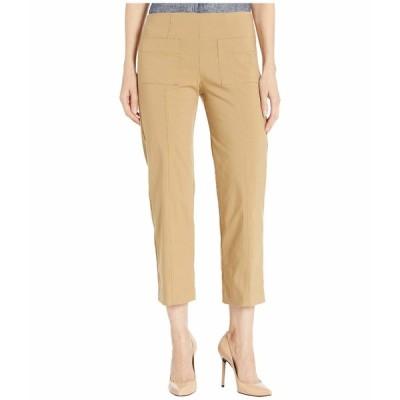 エリオットローレン カジュアルパンツ ボトムス レディース Control Stretch Pull-On Pants with Center Front Pockets Latte