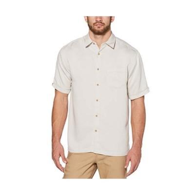 Cubavera メンズ半袖ベッドフォードコードシャツ ポケット付き US サイズ: Small カラー: グレイ