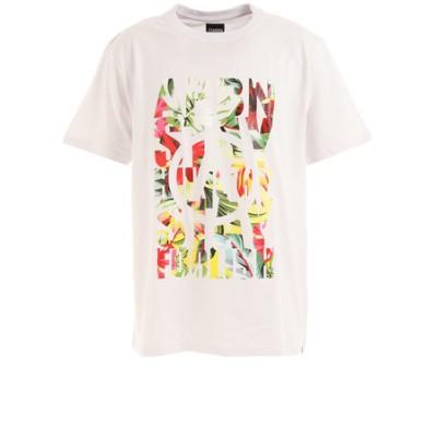 エアボーン(ARBN)Tシャツ メンズ 半袖 ボタニカルビッグロゴ ARBN21-1003-WHT カットソー