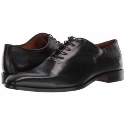 Massimo Matteo マッシオマッテオ メンズ 男性用 シューズ 靴 オックスフォード 紳士靴 通勤靴 5-Eye Laser Brogue Black【送料無料】