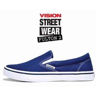 【ヴィジョン フルトン 2】VISION FULTON 2 NAVY vsw-9151-030 スリッポン スニーカー スケート ビジョン ストリート ウェア ネイビー ホ