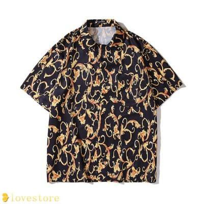アロハシャツ カップル ハワイ風 シャツ 夏 開襟 ラペル UV対策 通気速乾 軽量 カジュアル 薄手 ゆったり 旅行 リゾート ビーチ