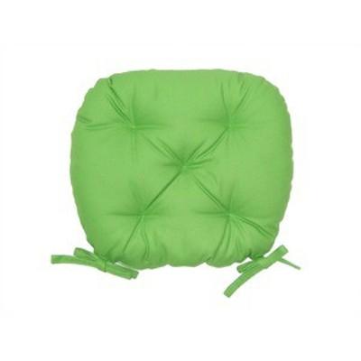 バテイ型 シートクッション/座布団 【ライトグリーン】 厚み6cm 紐付き 洗える 日本製