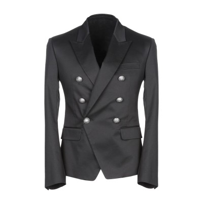バルマン BALMAIN テーラードジャケット ブラック 54 コットン 95% / ポリエステル 5% テーラードジャケット