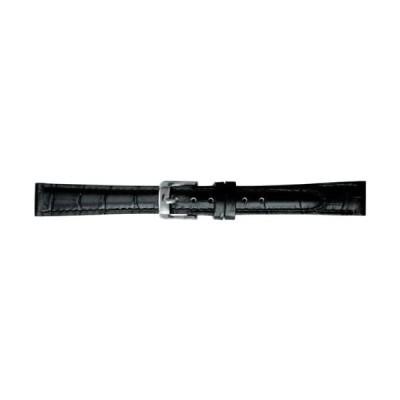 [バンビ]BAMBI 時計バンド 牛革 スコッチガード ブラック 14mm BKM051AL (ブラック 美錠:シルバー)