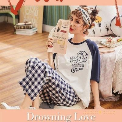 パジャマ 春 秋  パジャマ女 可愛い パジャマ 女性 オシャレ 可愛い 部屋着 女性パジャマ