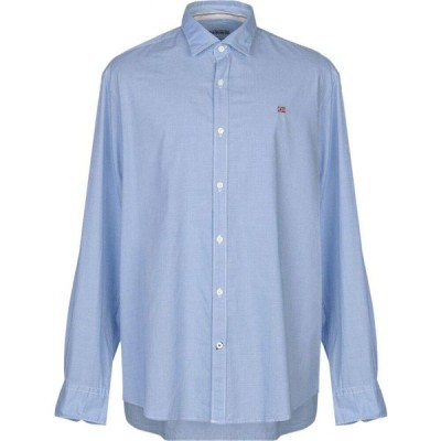 ナパピリ NAPAPIJRI メンズ シャツ トップス Checked Shirt Sky blue