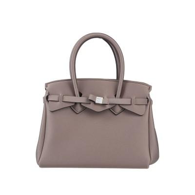SAVE MY BAG ハンドバッグ ドーブグレー ポリエステル 50% / ナイロン 40% / ポリウレタン 10% ハンドバッグ
