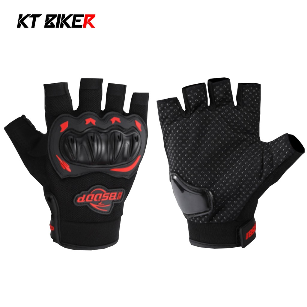 【KT BIKER】 夏季 半指手套 防摔手套 半指 止滑 耐磨 透氣 夏季手套 機車手套 〔BSG001〕