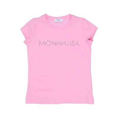 モナリザ MONNALISA T シャツ ピンク 12 コットン 95% / ポリウレタン 5% T シャツ