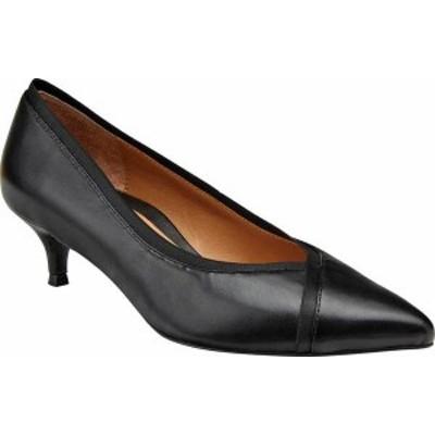 バイオニック レディース パンプス シューズ Women's Vionic Sylvie Pointed Toe Pump Nappa Black Leather