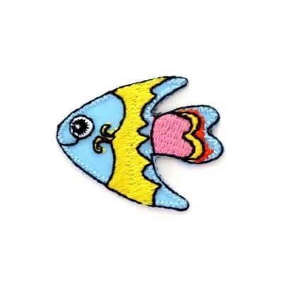 アイロンワッペン ちいさい ワッペン 刺繍ワッペン キュート 熱帯魚 アイロンで貼れるワッペン